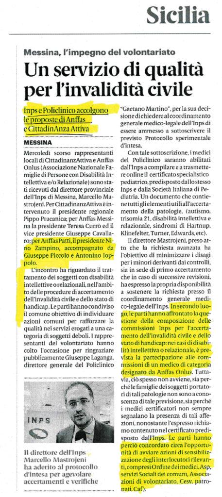 Anffas Onlus Patti Un Servizio di qualità per l'invaliditò civile